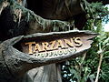 Tarzan's Treehouse Entrance Sign.JPG