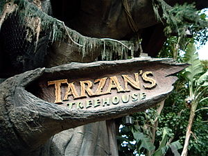 Tarzan's Treehouse - Image: Tarzan's Treehouse Entrance Sign