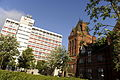 Teesside University showing the Waterhouse Building and Middlesbrough Tower.JPG
