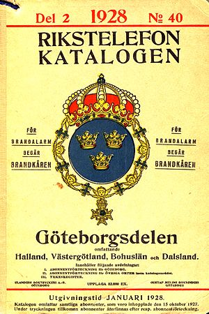 Telephone directory - Gothenburg telephone directory, 1928.