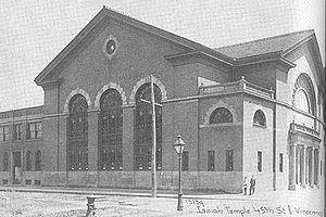 Dankmar Adler - Temple Isaiah, Chicago, designed by Adler, c. 1910