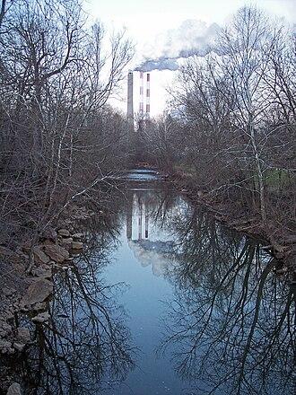 Tenmile Creek (West Fork River) - Tenmile Creek in Lumberport in 2006
