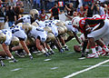 Terrapins kick FG at Navy at Maryland 2010-09-06.JPG