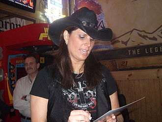 Terri Clark - Signing autographs in February 2010