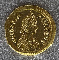 Tesoretto di sovana 129 solido di ariadne (476-491), zecca di costantinopoli.JPG