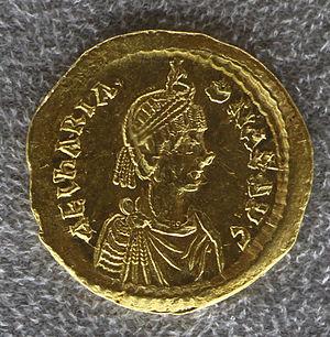 Ariadne (empress) - Solidus of Ariadne