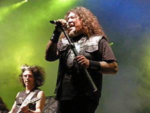 Chuck Billy (vocalist) - With Testament at Skogsröjet festival, Rejmyre, Sweden, 2012