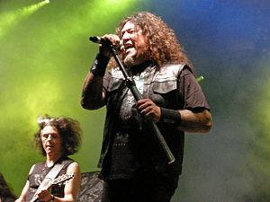 Chuck Billy (vocalist) - With Testament at Skogsröjet festival, Rejmyre, Sweden, 2012