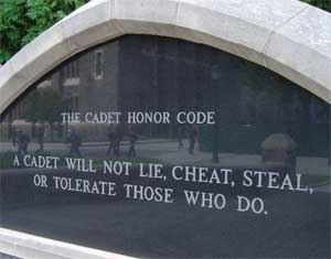 Cadet Honor Code - Honor Code Monument at West Point