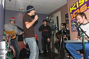 The Click Five - Click Five photographed in studio in late 2005