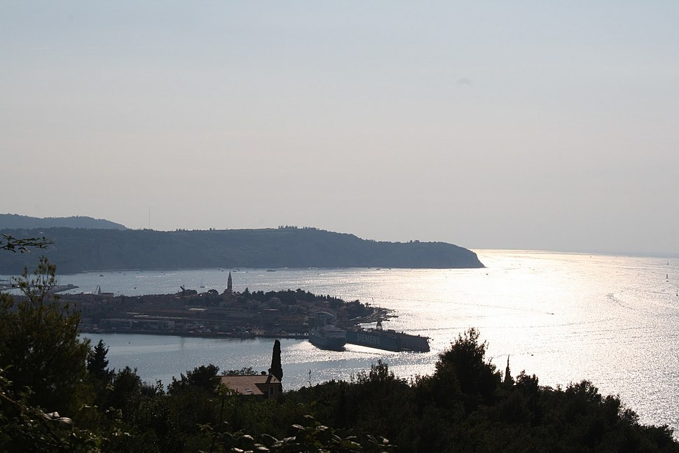 The Adriatic Sea near the port of Izola, Slovenia