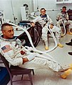 The Apollo 204 crew is suited for an altitude chamber test.jpg