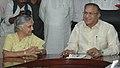 The Chief Minister of Delhi, Smt. Sheila Dikshit calls on the Union Minister for Urban Development, Shri Jaipal Reddy, in New Delhi on June 18, 2008.jpg