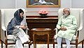 The Chief Minister of Jammu and Kashmir, Ms. Mehbooba Mufti calling on the Prime Minister, Shri Narendra Modi, in New Delhi on April 24, 2017.jpg