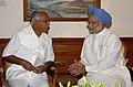 The Chief Minister of Karnataka, Shri B.S. Yeddyurappa calling on the Prime Minister, Dr. Manmohan Singh, in New Delhi on June 02, 2009.jpg