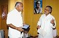 The Chief Minister of Karnataka, Shri B.S. Yeddyurappa meeting the Union Minister for Rural Development and Panchayati Raj, Dr. C.P. Joshi, in New Delhi on March 09, 2010.jpg