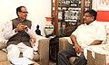 The Chief Minister of Madhya Pradesh, Shri Shivraj Singh Chouhan meeting the Union Minister for Communications & Information Technology and Law & Justice, Shri Ravi Shankar Prasad, in New Delhi on July 07, 2014 (1).jpg
