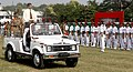 The Civil Defence Minister for State of West Bengal, Dr. Sreekumar Mukherjee, inspecting the Guard of Honour, at the NCC day celebrations, in Kolkata on November 21, 2010.jpg
