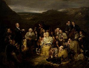 Conventicle - A Covenanters' conventicle. The Covenanters' Preaching, painting by George Harvey