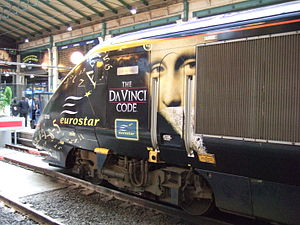 Teaser campaign - The Da Vinci Code Eurostar in Paris