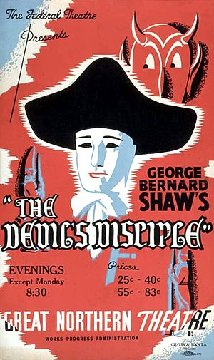 The Devil's Disciple - Poster from the Federal Theatre Project, Work Projects Administration production, November 1937