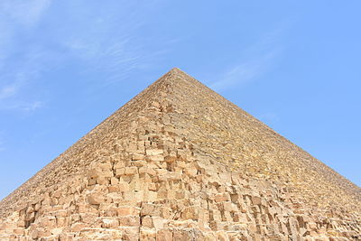 The Great Pyramid of Giza from southeast corner.JPG