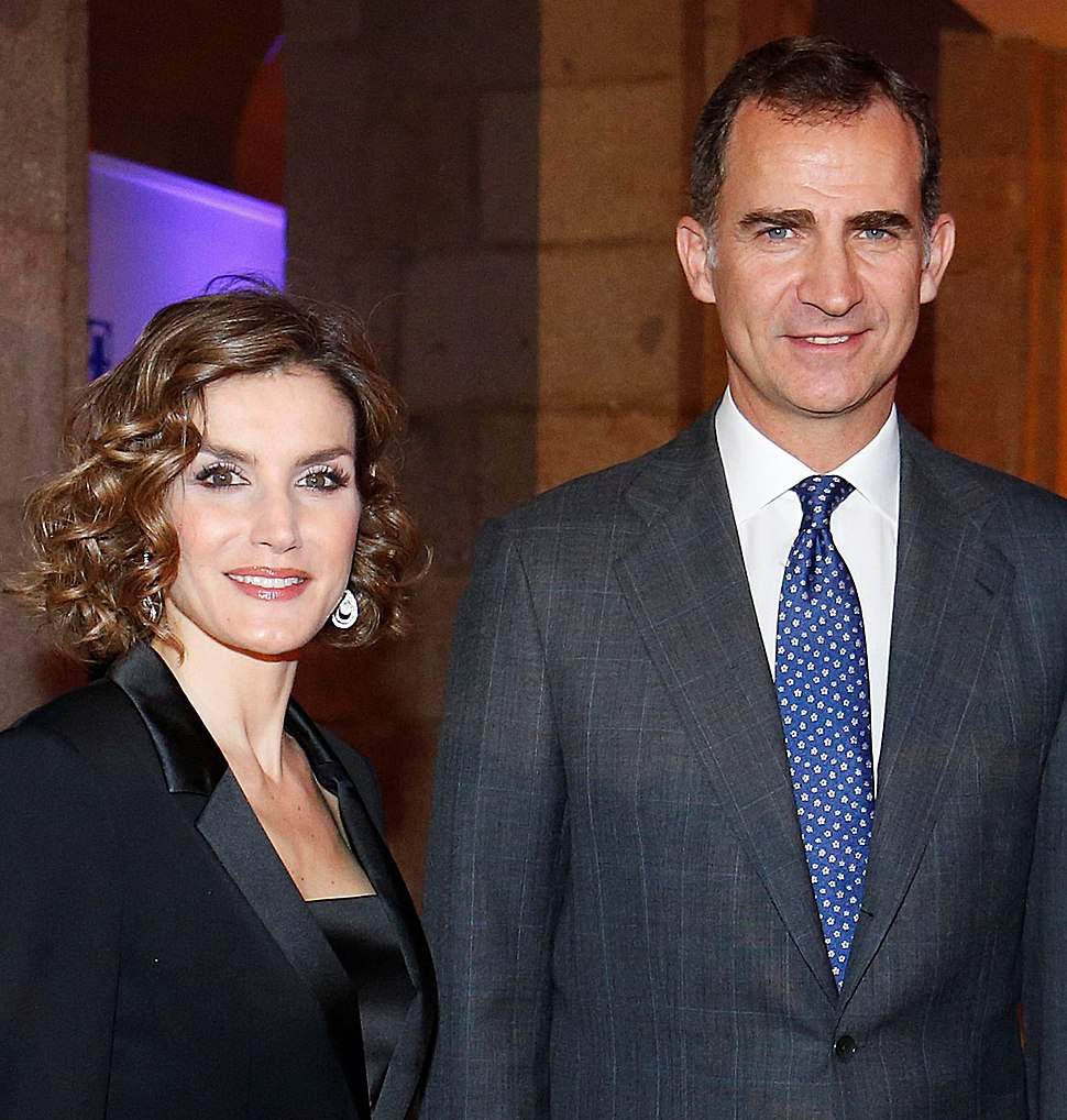 The King and the Queen of Spain (2015, cropped)
