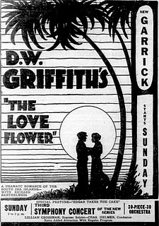<i>The Love Flower</i> 1920 film by D. W. Griffith