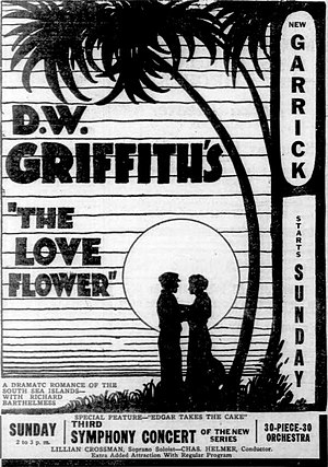 The Love Flower - Newspaper ad for The Love Flower