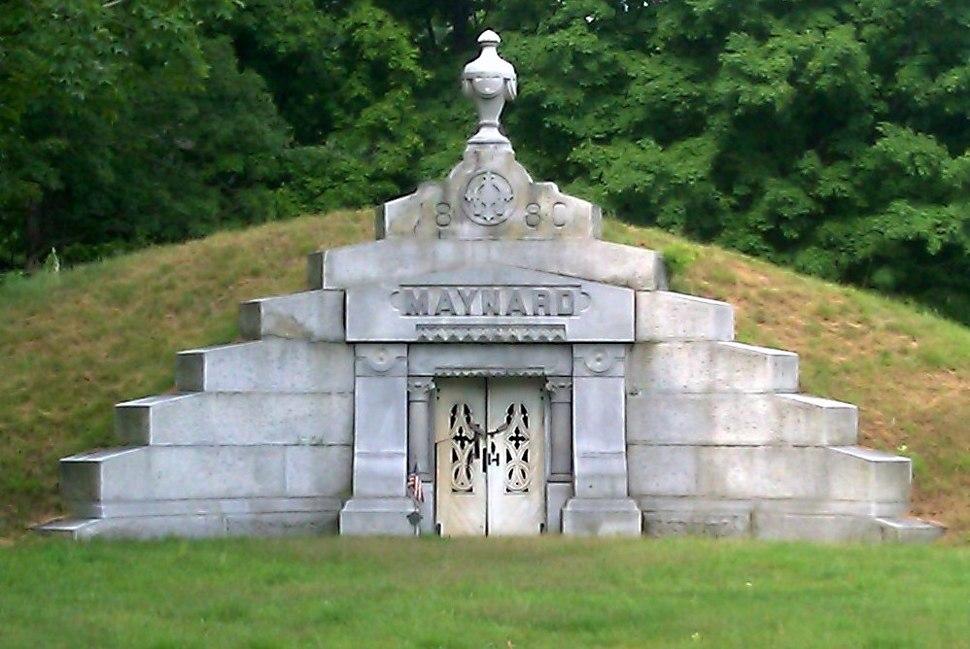 The Maynard Crypt in Glenwood Cemetery Maynard Mass.