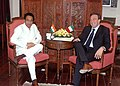 The Minister of State for Foreign Affairs and in charge of Asia, Italy, Mr. Sen Gianni Vernetti calls on the Union Minister for Commerce and Industry, Shri Kamal Nath, in New Delhi on July 6, 2006.jpg