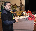 The Minister of State for Human Resource Development, Shri Upendra Kushwaha addressing at the inauguration of the Navodaya National Integration Meet and Award Function 2016-17, in New Delhi on January 17, 2017.jpg