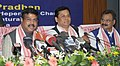The Minister of State for Petroleum and Natural Gas (Independent Charge), Shri Dharmendra Pradhan addressing a press conference, in Guwahati.jpg