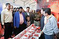 The Minister of State for Social Justice & Empowerment, Shri Ramdas Athawale visiting the stalls, at the Trade Fair of Pragati Ka Maidan, in Chandigarh on February 23, 2018.jpg