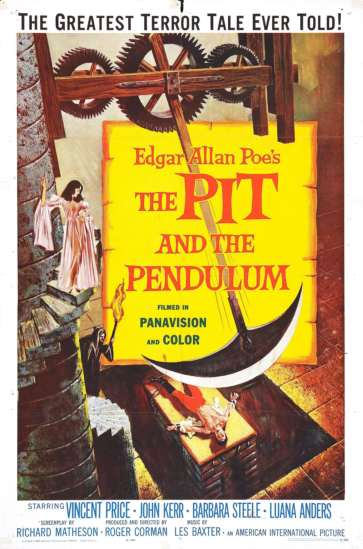 The Pit and the Pendulum (1961 film) - Wikipedia