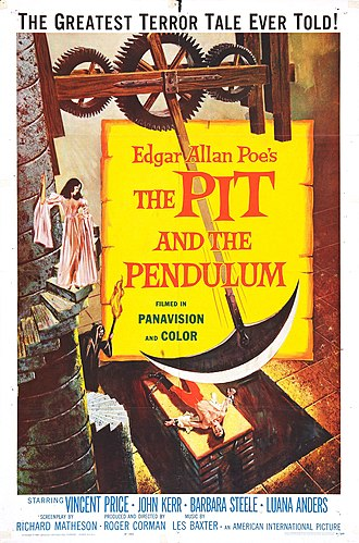 The Pit and the Pendulum (1961 film) - Original 1961 theatrical release poster by Reynold Brown