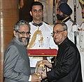 The President, Shri Pranab Mukherjee presenting the Padma Bhushan Award to Dr. Ambrish Mithal, at a Civil Investiture Ceremony, at Rashtrapati Bhavan, in New Delhi on April 08, 2015.jpg