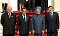 The Prime Minister, Dr. Manmohan Singh and the French and EU President, Mr. Nicolas Sarkozy with other dignitaries at the 9th Indo-EU Summit, in Marseille, France on September 29, 2008.jpg