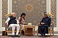 The Prime Minister, Shri Narendra Modi at the delegation level talks with the Sultan of Oman, Sultan Qaboos bin Said Al Said, at Bait Al Baraka, in Muscat, Oman on February 11, 2018.jpg