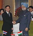 The Prime Minister of Thailand, Mr. Somchai Wangsawat meeting the Prime Minister, Dr. Manmohan Singh, in New Delhi on November 13, 2008.jpg