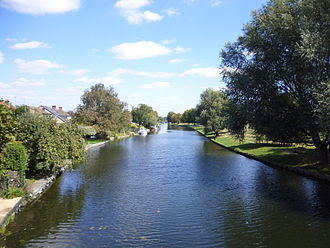 River - The River Cam from the Green Dragon Bridge, Cambridge (Britain)