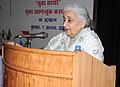 The Union Minister for Culture, Smt. Chandresh Kumari Katoch addressing at the inauguration of 'Yuva Saathi'- Young Visitor Programme, in New Delhi on August 07, 2013.jpg