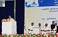 The Union Minister for Overseas Indian Affairs and Civil Aviation, Shri Vayalar Ravi addressing at the inauguration of the New International Terminal Building, at Trivandrum Airport, in Kerala on February 12, 2011.jpg