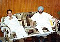 The Union Minister of Water Resources Shri P.R. Dasmunshi meets the Chief Minister of Punjab Capt. Amrinder Singh in New Delhi on June 9, 2004.jpg