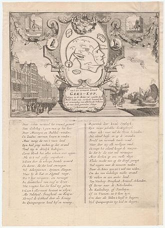 Mississippi Company - Representation of the very famous island of Mad-head, lying in the sea of shares, discovered by Mr. Law-rens, and inhabited by a collection of all kinds of people, to whom are given the general name shareholders, 1720.