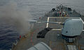 The forward Mark 45 5-inch gun aboard the guided missile destroyer USS Ramage (DDG 61) fires during a live-fire exercise in the Mediterranean Sea Feb. 23, 2014 140223-N-CH661-001.jpg