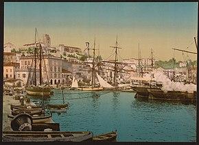 Il porto di Cannes tra il 1890 e il 1900
