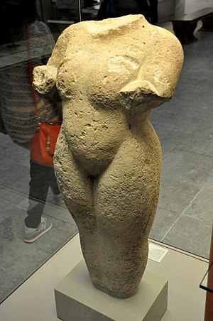 Ashur-bel-kala - The only known Assyrian statue of a naked woman, erected at the temple of Ishtar in Nineveh, during the reign of Ashur-bel-kala, 1073-1056 BCE. Currently housed in the British Museum, London