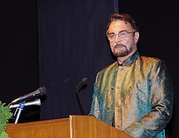 The renowned actor Kabir Bedi compeering the opening ceremony of the 40th International Film Festival (IFFI-2009), at Kala Academy, in Panaji, Goa on November 23, 2009