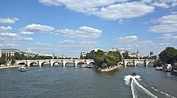 The western sides of the Île de la Cité and the Pont Neuf, 14 July 2008.jpg